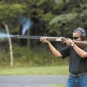 Auch Obama greift zum Gewehr
