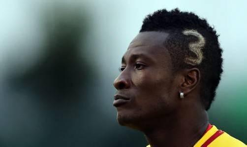 Originelle Haarpracht von Ghanas Kapitän Asamoah Gyan. Foto: ap