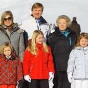 Königsfamilie strahlte mit Wintersonne um die Wette