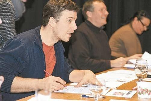 Regisseur und Schauspieler Stefan Pohl war von den Talenten begeistert. Am 19. und 20. Februar dürfen sie ihr Können erneut unter Beweis stellen. FotoS: VOVO Götzis
