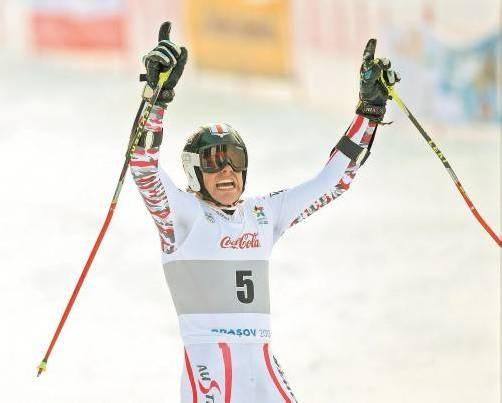 Riesenfreude über Riesentorlauf-Medaille: Mathias Graf. Foto: Gepa