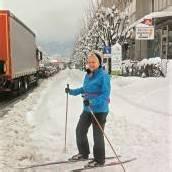Ski Heil mitten in der Stadt