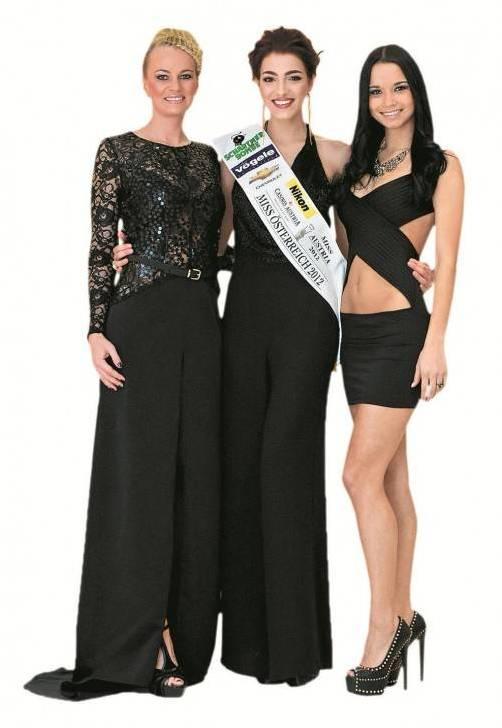 Topmodisch gestylt und in Partylaune: Ex-Missen Bianca, Amina und Lourdes (v. l.).