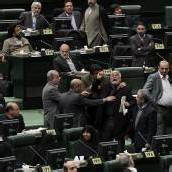 Eklat im iranischen Parlament