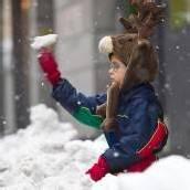 Iotz schniit as an schwazo Schnee.
