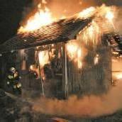 Stadel ging in Flammen auf