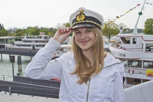 Anja aus Wolfurt freut sich auf den Auftakt der Schiffssaison. Foto: VN/Steurer