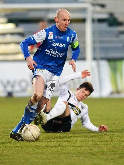 Das Lustenauer Derby am Dienstag (18.30 Uhr) wird Mario Bolter noch in Blau bestreiten, mit Saisonende wechselt er zur Austria. Fotos: gepa/2