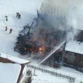 Stadel brannte nieder – Rentner retteten sich