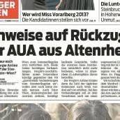 AUA – Bruchlandung in Altenrhein