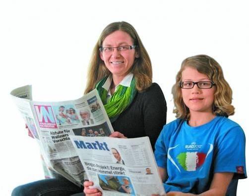 Familie Klocker hat die VN seit Jahren abonniert. Auch der 12-jährige Laurin liest sie bereits täglich. Foto: tag