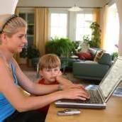 Zu Hause arbeiten gefragt