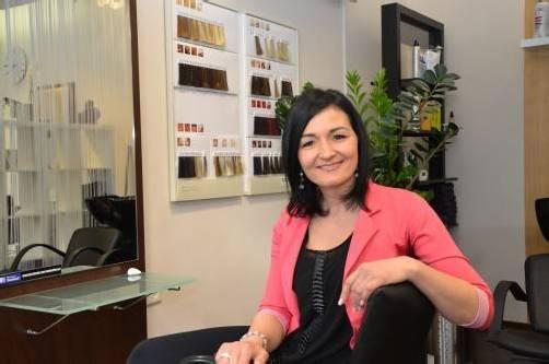 Hairforce1-Geschäftsführerin Silke Gmeiner legt großen Wert auf Harmonie. Foto: vn/hämmerle