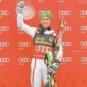 Kristallkugel Marcel Hirscher im Slalom top /c1