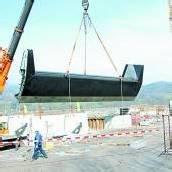Tonnenschwere Stahlsegmente für Kraftwerk