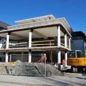 Bauarbeiten am Vereinshaus in vollem Gange