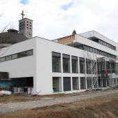 Pfarrzentrum in Bludenz vor Fertigstellung
