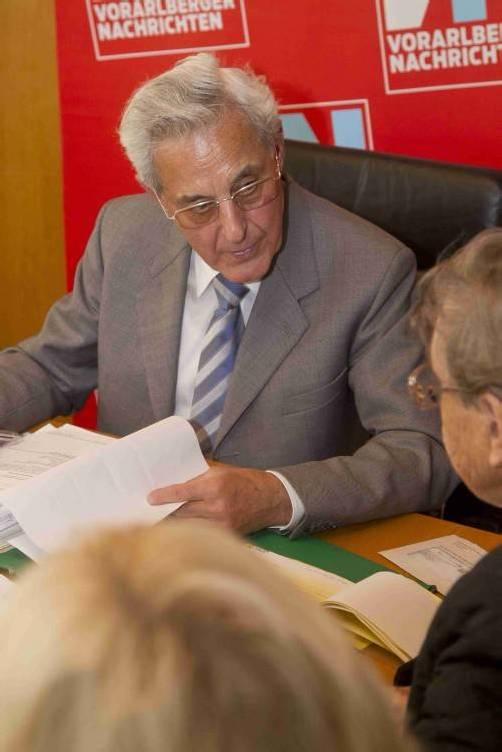 Setzt sich regelmäßig für Bürger ein: Gottfried Feurstein.  Foto: VN