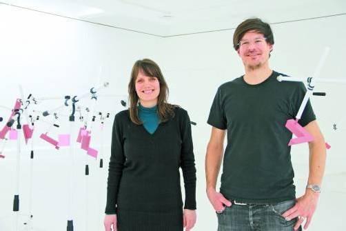Vorarlberger Künstlerduo Alexandra Berlinger und Wolfgang Fiel im Engländerbau in Vaduz. Foto: AG