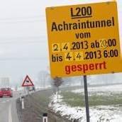 Tunnel nächste Woche gesperrt