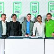 Fachleute beim Fußball-Talk