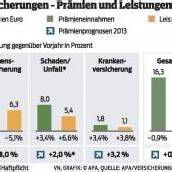 Österreichs Versicherungen 2012 mit weniger Prämien