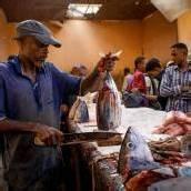 Fangfrisch auf den Markt in Somalia