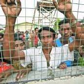 Burmesen flüchten vor Ausschreitungen
