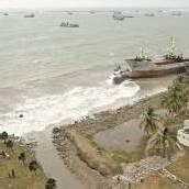 Sturm ließ Schiffe auf Grund laufen