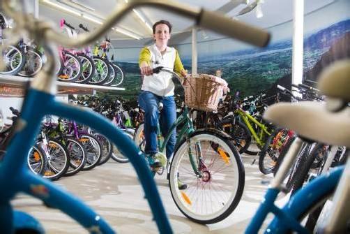 """""""Je bunter und gemütlicher, desto besser"""", lautet heuer die Devise in Sachen Fahrradtrends. Fotos: VN/STeurer"""
