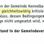 Bürgerfeindliches aus Kennelbach