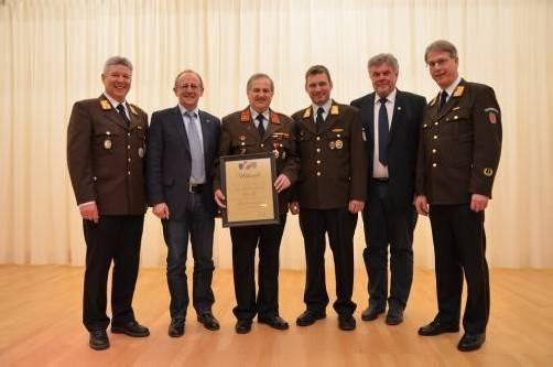 Bertram Luger (l.) und Hans Kurz sowie Rainer Batlogg. Foto: SW
