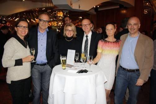 Birgitt Frühstück (l.) mit Harald Armellini, Verena Spiegel-Schwärzler, Titus Spiegel, Gabriele Germann-Leiner und Anwalt Andreas German.