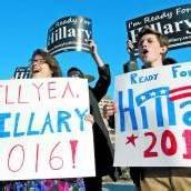 Clinton-Anhänger trommeln für Präsidentschaftskandidatur