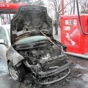Auto fing auf Heimfahrt Feuer