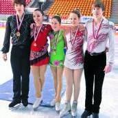 Favoriten holten sich die Eiskunstlauftitel ab