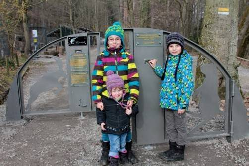 Die neue Spendenkassa im Wildpark Feldkirch. Foto: Koe