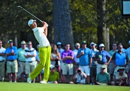 Eine Runde mit Tiger Woods: Guan Tianlang. Foto: ap