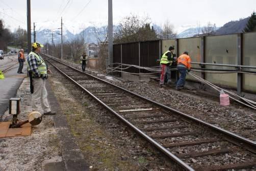Erste Vorarbeiten für Sanierung der Bahnstrecke Feldkirch–Buchs haben bereits begonnen. Foto: GMS