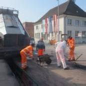 Roter Platz in Lochau wurde ausgebessert