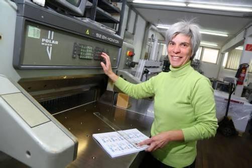 Gabriele hat die Druckerei von ihrem Vater Rudolf 1984 übernommen. Foto: vn/hofmeister