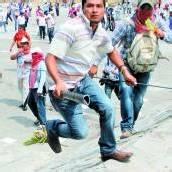 Wütende Lehrer in Mexiko