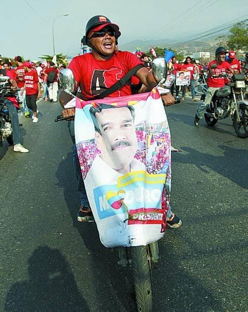 Wahlkampf in Venezuela: Anhänger von Maduro. Foto: DAPD