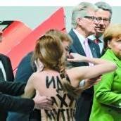 Protest gegen Wladimir Putin in Hannover