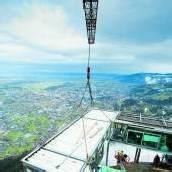 Per Luftpost zum Montageplatz Imposante Baustelle am Karren /A8