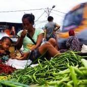 Alltag am Markt von Jakarta