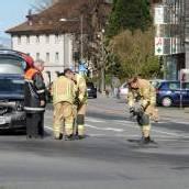 Feuerwehreinsatz nach Kollision auf Kreuzung