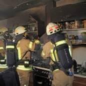 Küche brannte komplett aus