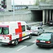 Rettungsauto gegen Pkw