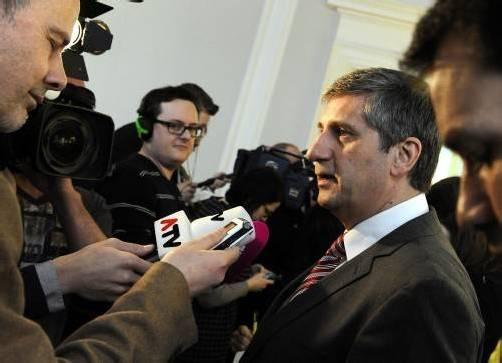 ÖVP-Obmann Vizekanzler Michael Spindelegger sieht keine Notwendigkeit für eine Dreierkoalition auf Bundesebene. Foto: apa